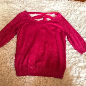 Bright pink glittery sweater !
